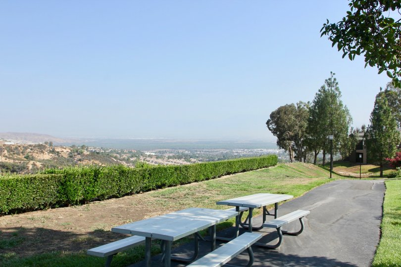 The tables also located at outside and it looks like a park relaxation tables for people to take rest