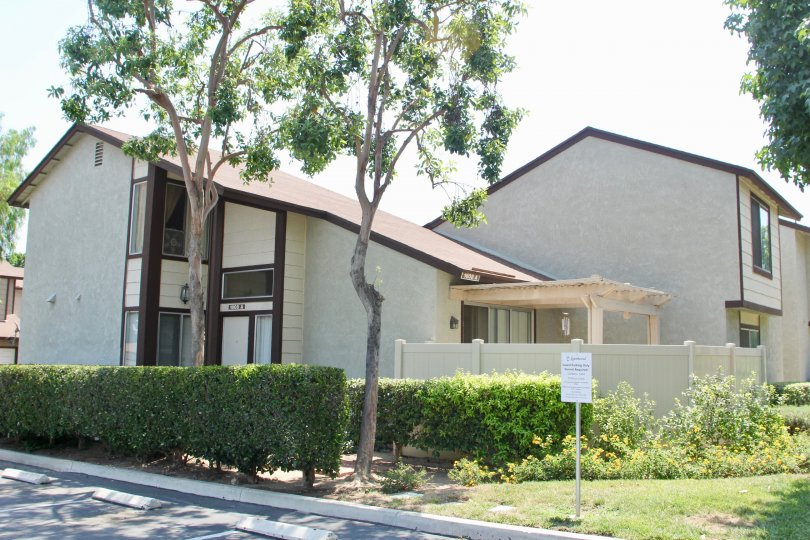 Laurelwood House Building with Lawn Location at corona City in Califorina