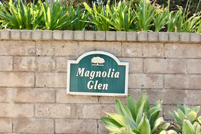 Magnolia Glen Wall Beauty Location at corona City in Califorina
