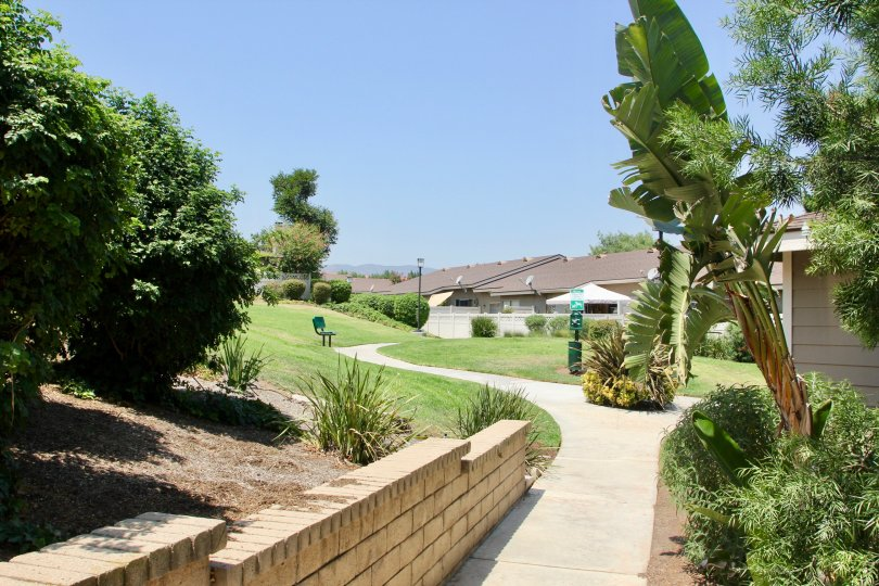 This pet friendly community is located in Corona, California, in the Magnolia Glen Community, It features great view of surrounding areas. and a great walking path. There is beautiful plants to view also.