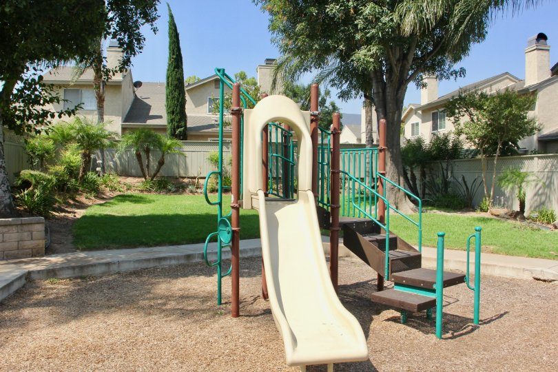 Santiago Location having Play Ground with Beauty green Lawn in corona City at Califorina