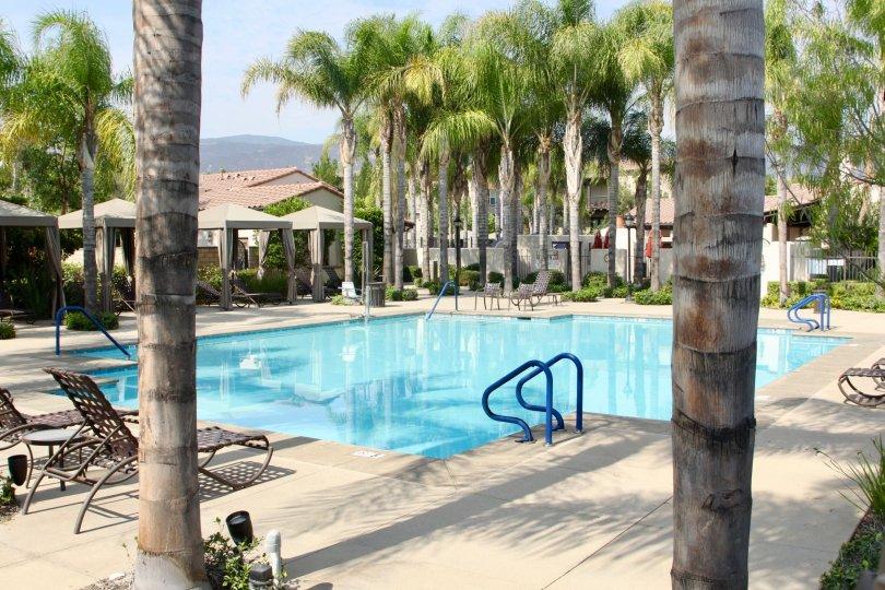Shady Grove community's amazingly clean swimming pool, Corona, california