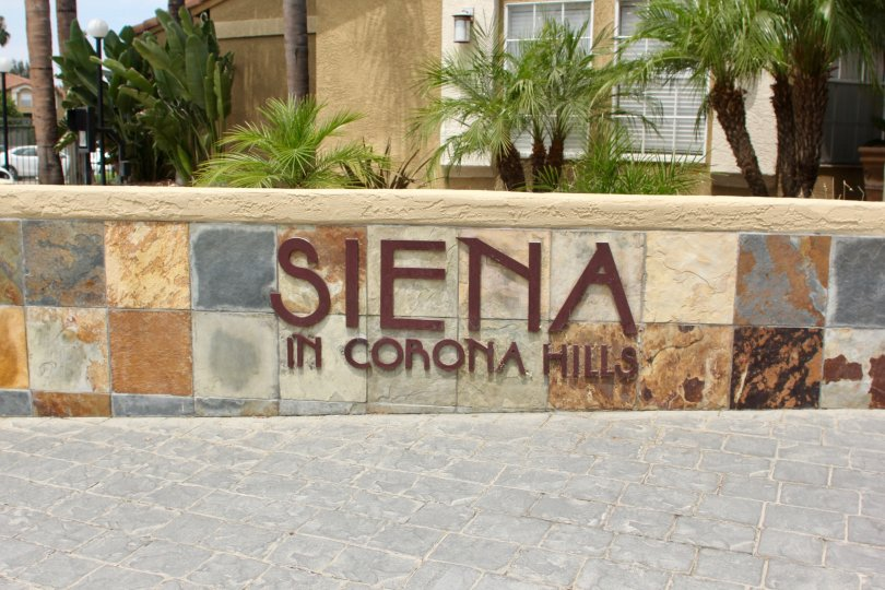 Sienna Building having Beauty Wall Location with Attractive View at corona City in Califorina