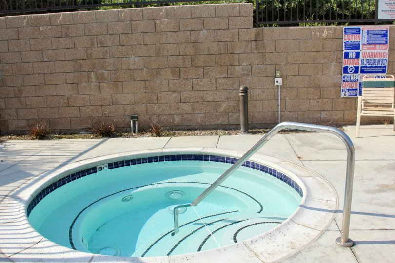 This hot tub is located in corona California at the village at green river.