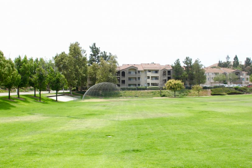 superb field and well mowed lawn of Triana at Corona Ranch, Corona California