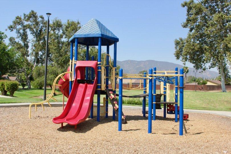 Village Grove Four Plex park with garden children's playing place