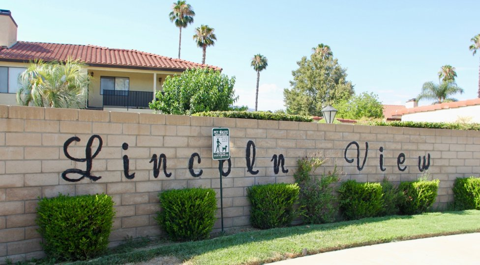 Lincoln View's welcome signage and awesome neighborhood, hemet, California