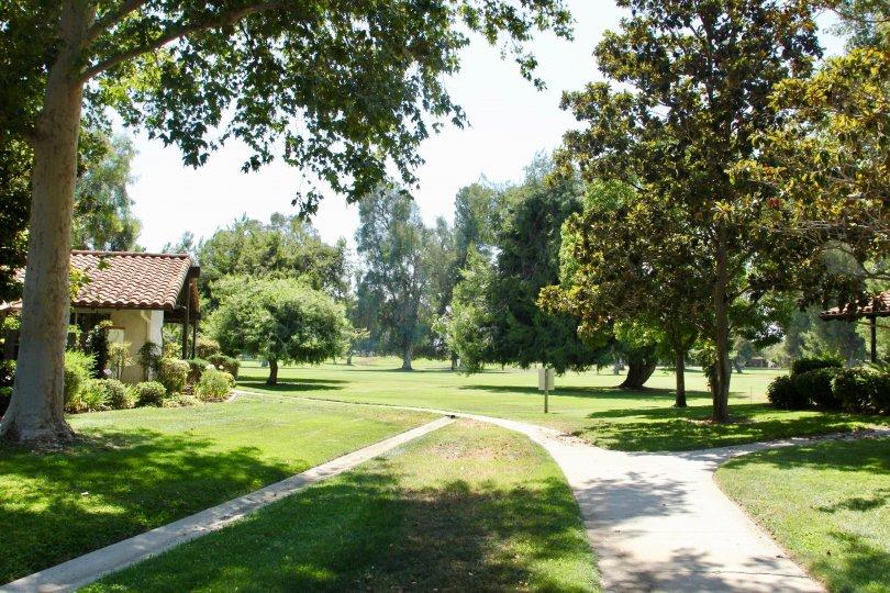 An impressive green field at Seven Hills, hemet, California