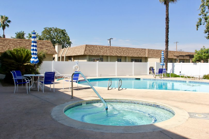Swimmning pool facility available to the residents of Sunrise Village, hemet, California