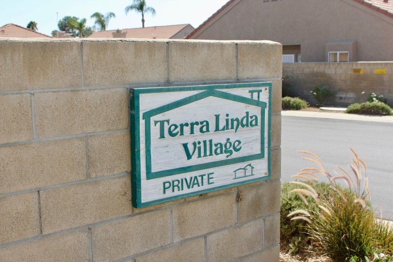 Entrance signage to the awesome Terra Linda Village community, hemet, California