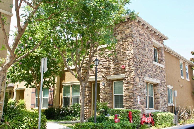 brookview terrace lake elsinore california home corner brick stone
