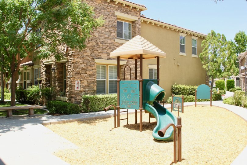 Brookview Terrace and the recreational facility available to residents with kids, ake elsinore, California