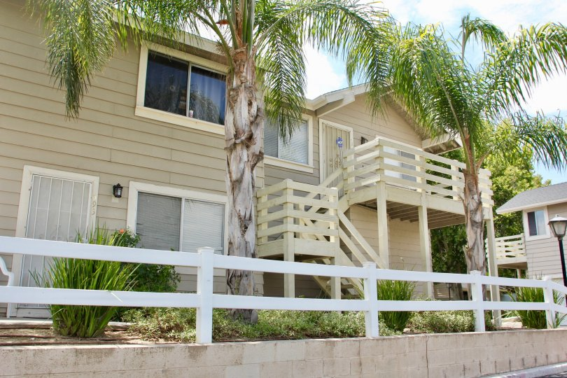 Front view of the apartment in the Lake country villas of Lake Elsinore in california