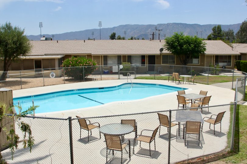 A SUNNY DAY IN THE LAKE ELSINORE VILLAGE AND BEAUTIFULL POOL IN THERE