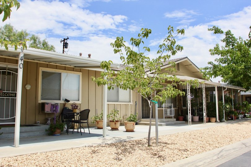 Street view of beautiful Lake Elsinore Village apartments, lake elsinore, California