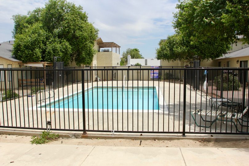 Security fence for the Swimming pool at Lake West, lake elsinore, California