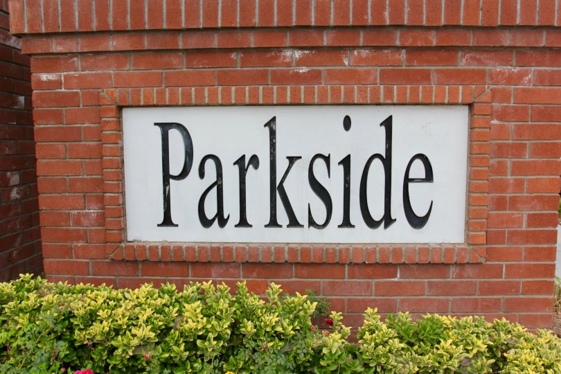Parkside at Towngate moreno valley California brick model sign with name parkside