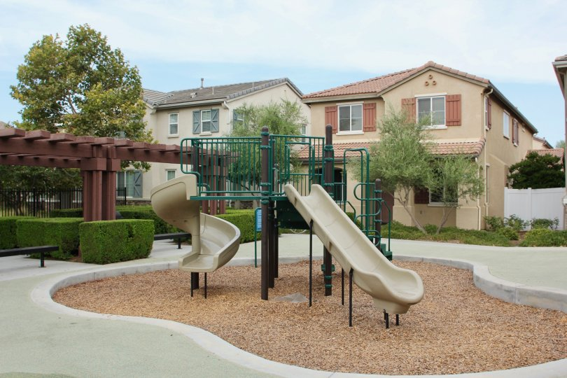 Parkside at Towngate House Building having Play Ground in Front Side at moreno valley City