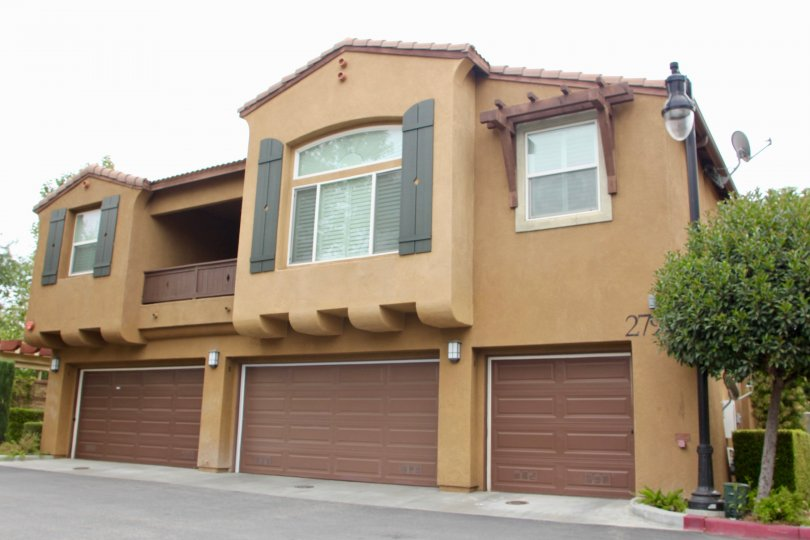 Promontory Pointe moreno valley California biscuit colored building with limited windows in top and lights