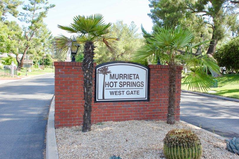 Beaunitul scene of the west gate of Murrieta Hot Springs in Arroyo Viejo