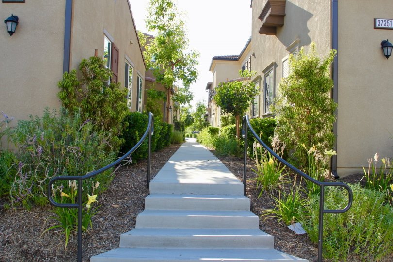 A very lovely walkway of Paseos at Crown Valley, murrieta, California