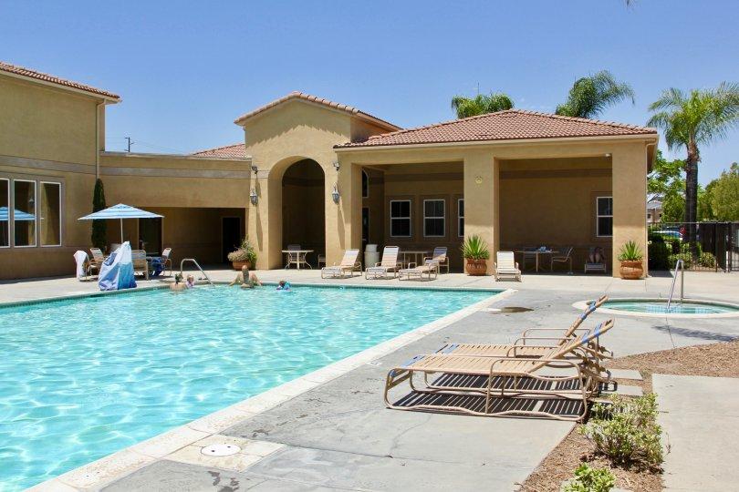 Murrieta California the Reserves at Madison Park pool andf hot tub