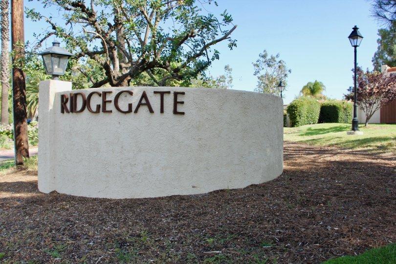 Ridgegate wall location at murrieta city at califorina