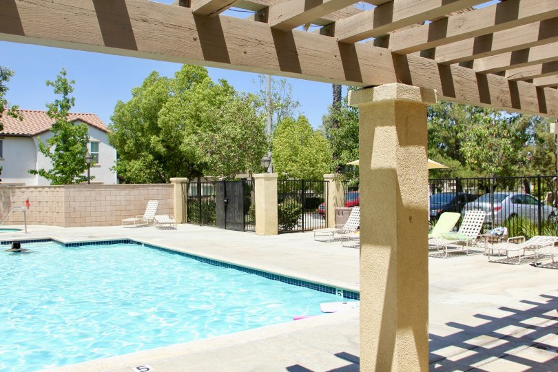 classy swimming pool for the residents at Skyview Ridge community, murrieta, California