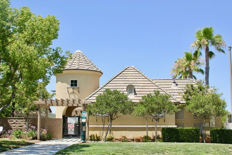 Front view and entrance to the palatial Skyview Ridge Community apartments. murrieta, California
