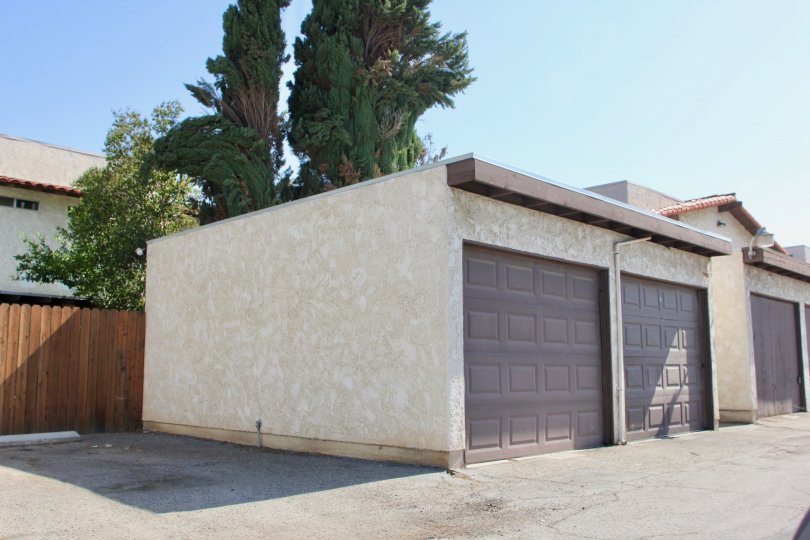 Spacious garages of the Buena Vista community in Riverside, CA