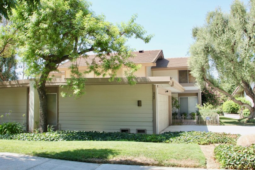 Side of garage in Canyon Crest Villas community in Riverside, California