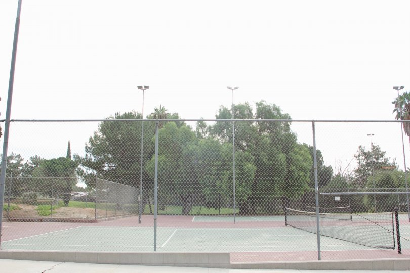 A look at the tennis court facility at Jurupa Hills Country Club, Riverside, California