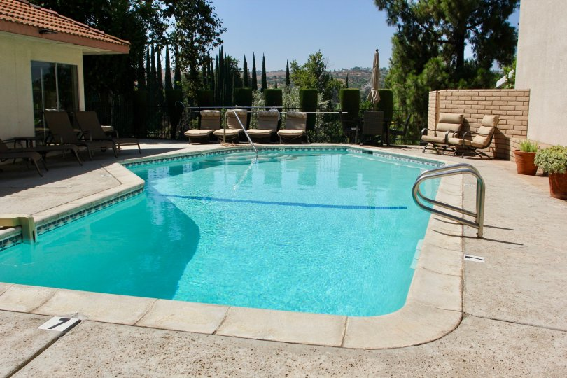 Las Mesas Building House having Amazing Water Pool Location at riverside City at Califorina