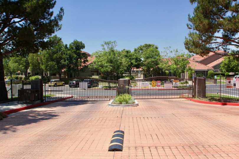 clean view of the gated community of Mission Villas, riverside, California