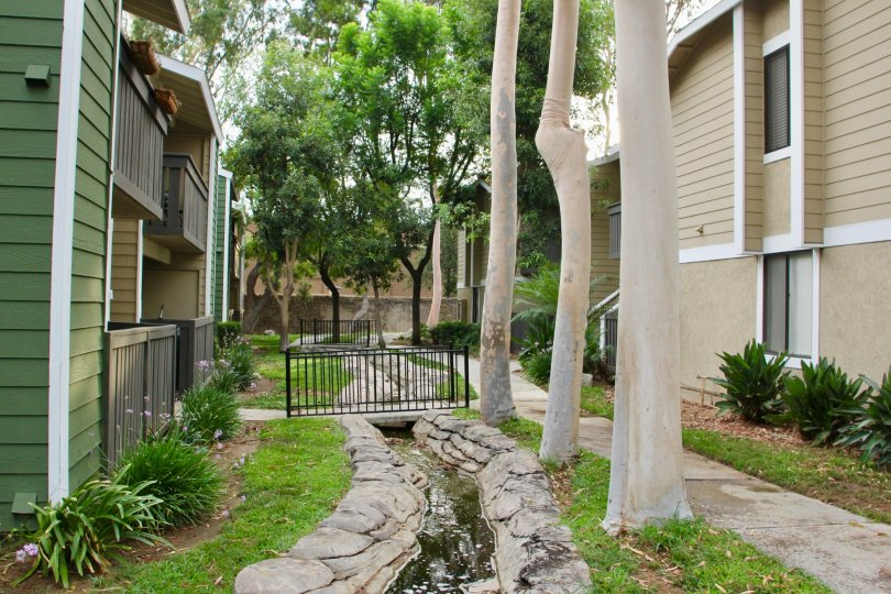 great wooden homes and classy greenery of River oak Apartments, Riverside, California