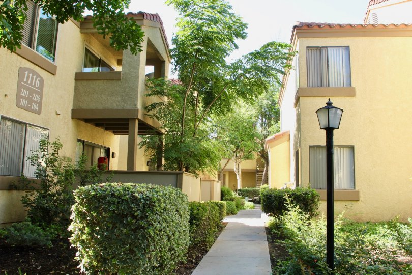 Woodlands's own very fine apartment buildings and their surrounding greenery, Riverside, california