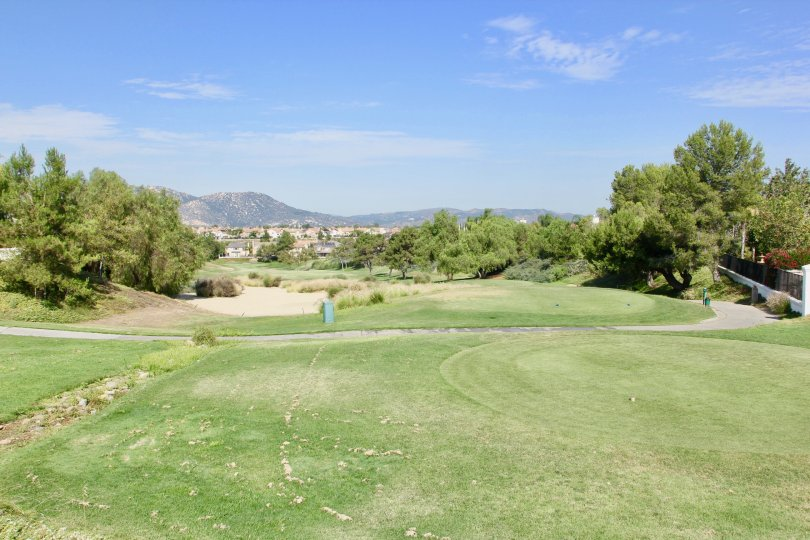 Hole layout from tee at Fairways at Redhawk in Temecula, CA