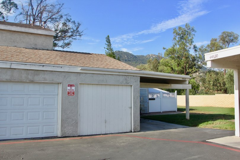 A classic view of the bungalows in Rancho Meadows, Temecula, California