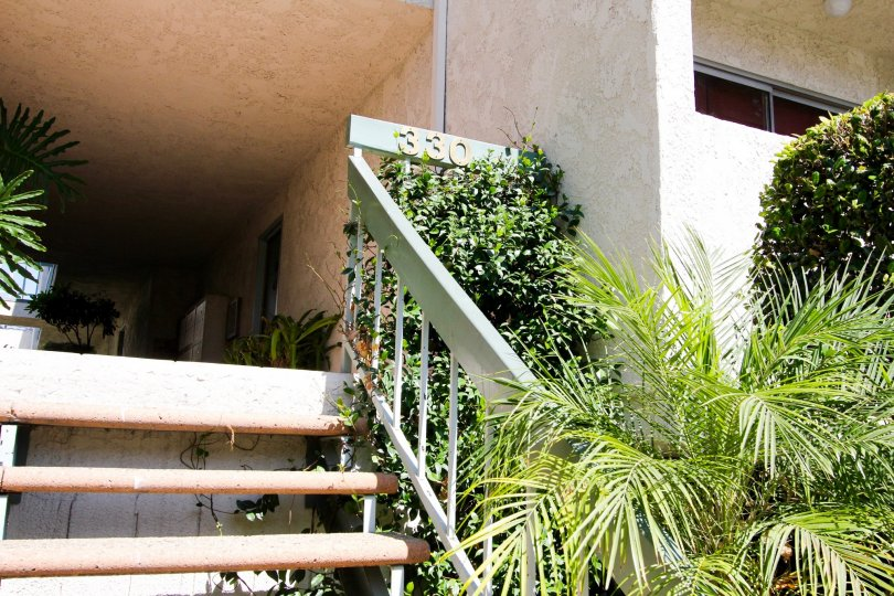 The stairs leading up to 330 N Chapel Ave in Alhambra California