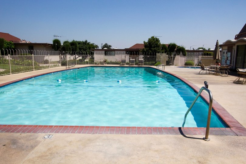 The pool for residents at Alhambra Village Green in Alhambra California