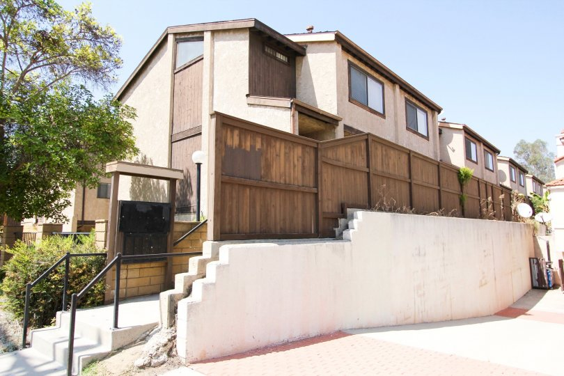 The privacy fence along Palmetto Townhomes in Alhambra California