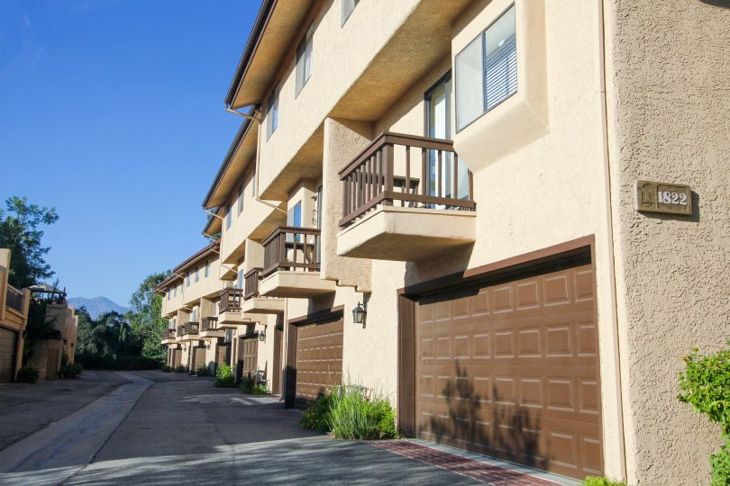 The private garages for Ramona Estates residents