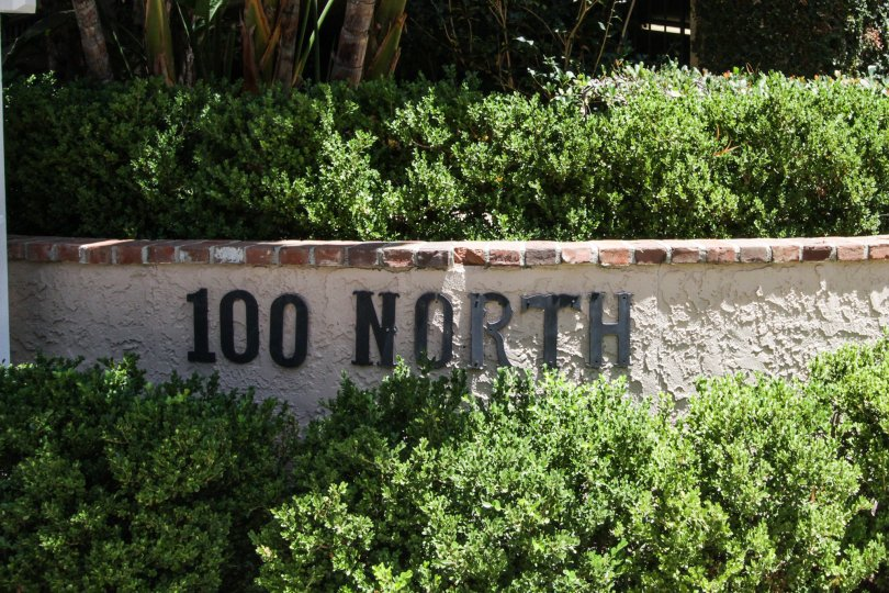 The welcoming sign into 100 N Wetherly