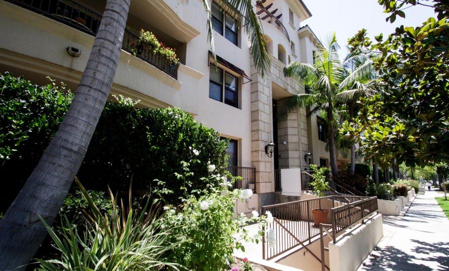 The walkway around the Clark Regency in Beverly Center