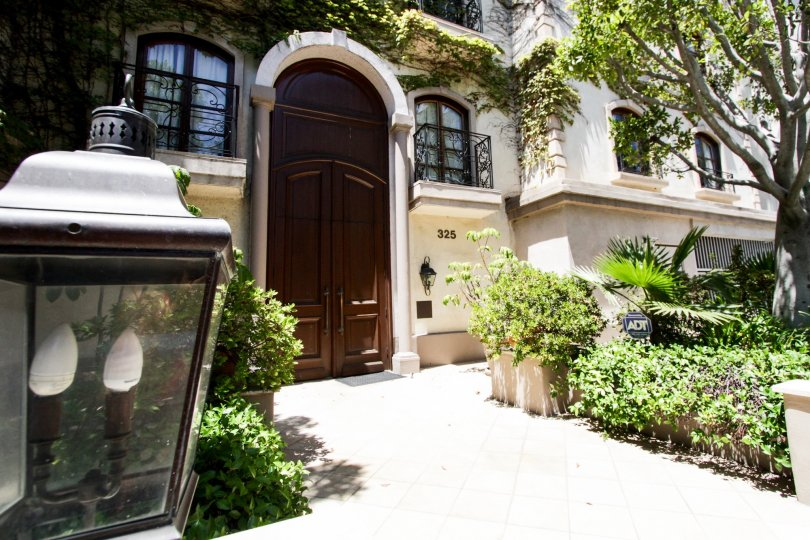 The walkway leading to the entrance of La Faubourg On Swall