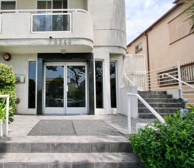 Entrance to 8349 Blackburn Plaza, Beverly Center, California
