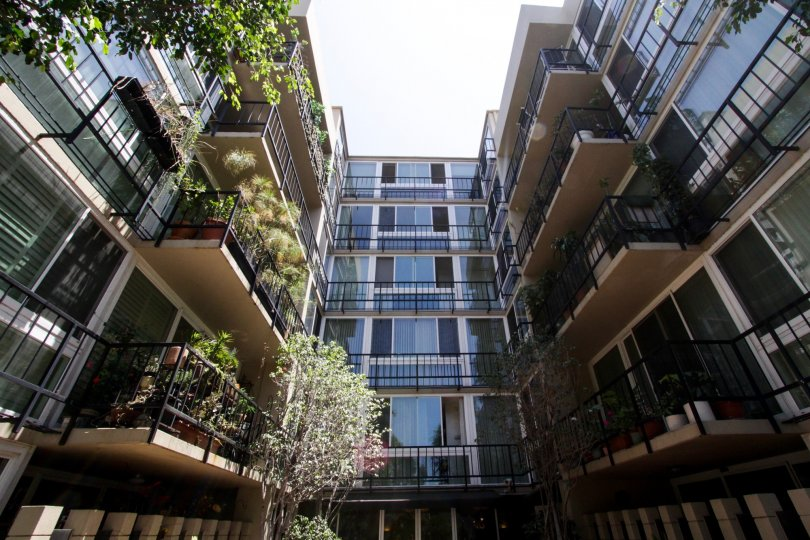 The balconies located in the Durant Towers