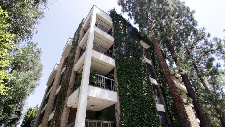 The balconies at Foxhall in Beverly Hills