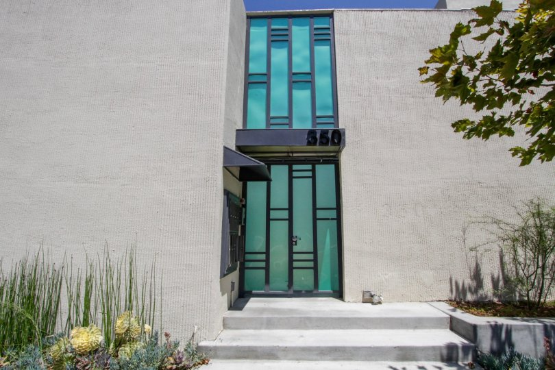 The entrance into McCarty Courtyard