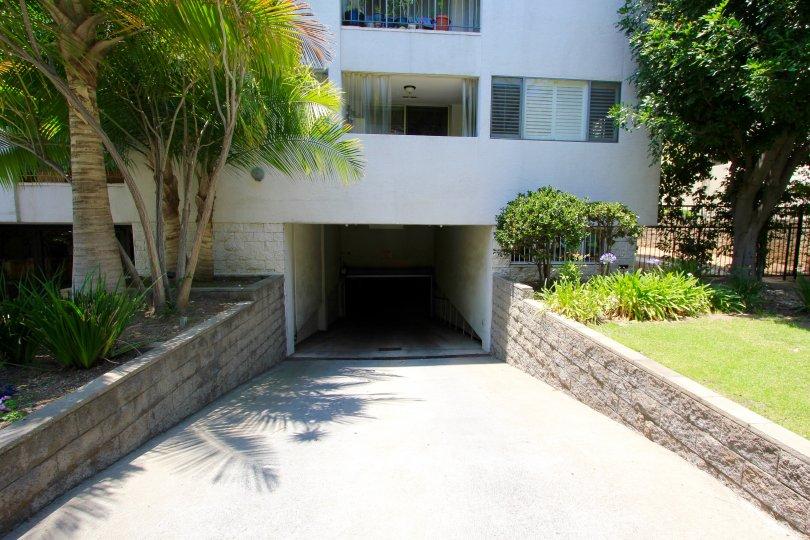 The parking for Oakhurst Condominiums
